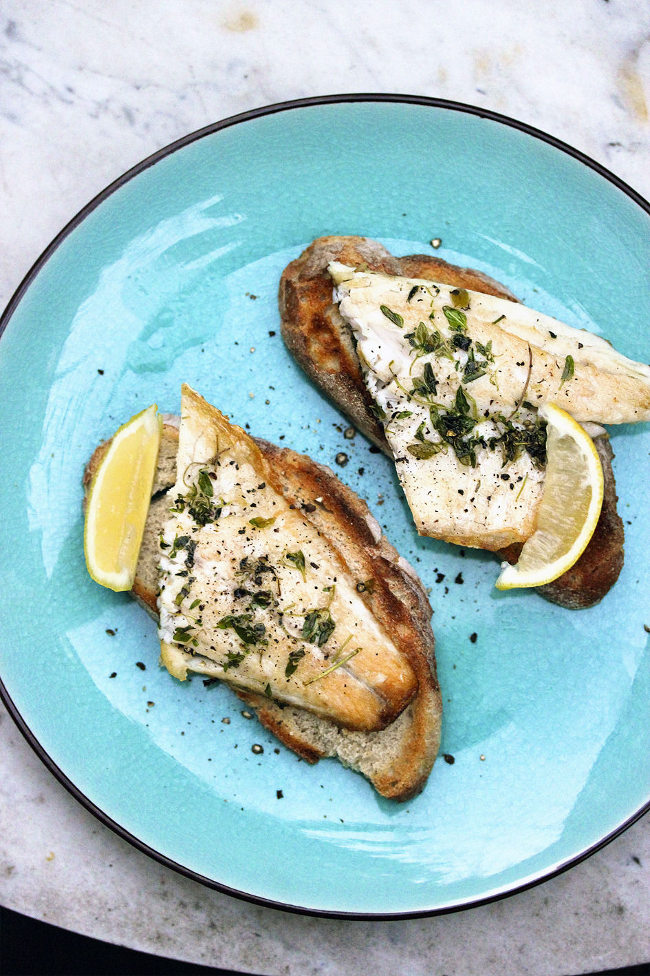 Sea Bass on Toast.