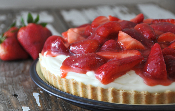 Strawberry Cream Tart.