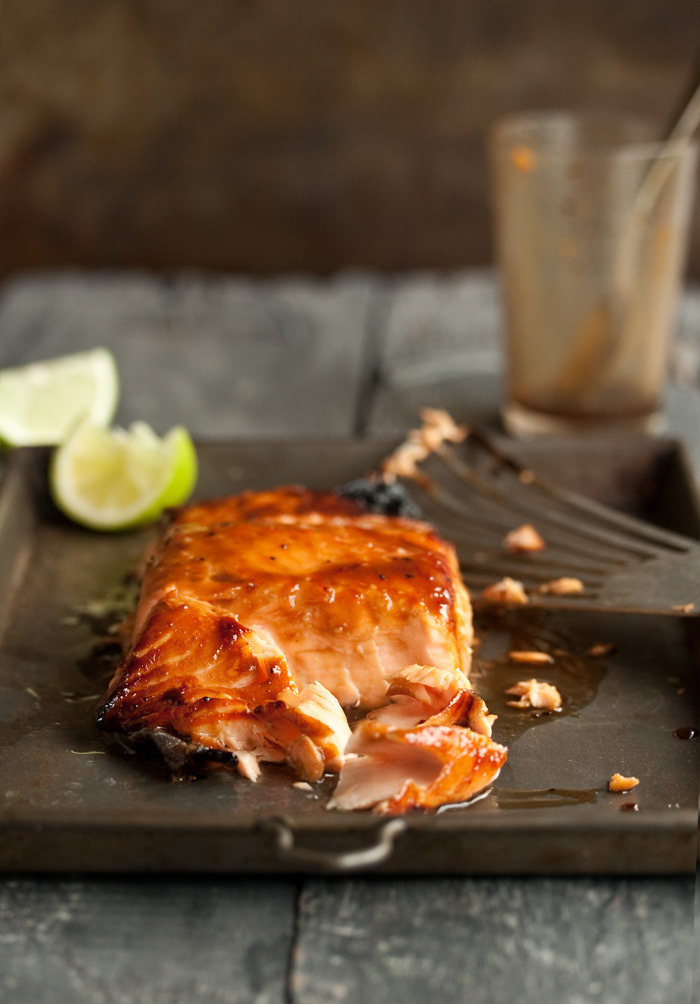 (via grilled salmon with a miso honey glaze Drizzle and Dip)