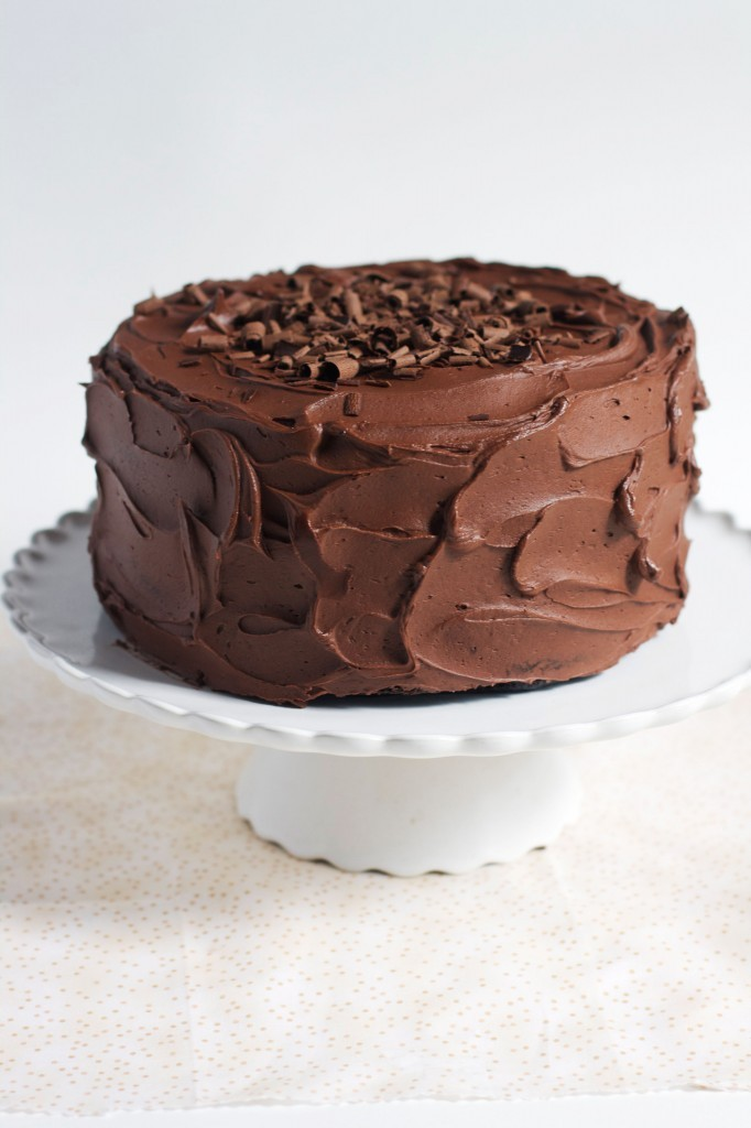 classic (one bowl) chocolate cake.