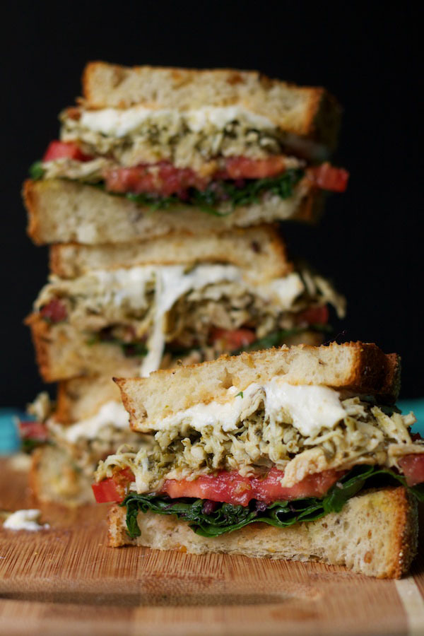 Pesto Chicken and Mozzarella Grilled Cheese SandwichReally nice recipes. Every hour.
