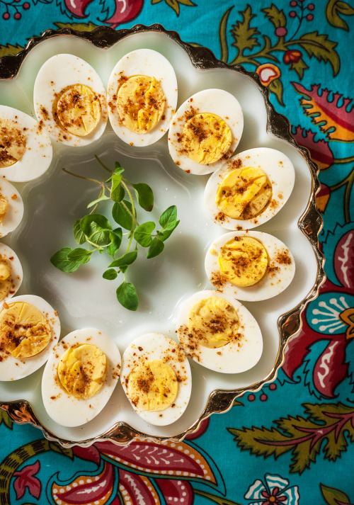 Hard-Cooked Eggs with Cumin, Coarse Salt, and Cayenne Gourmet