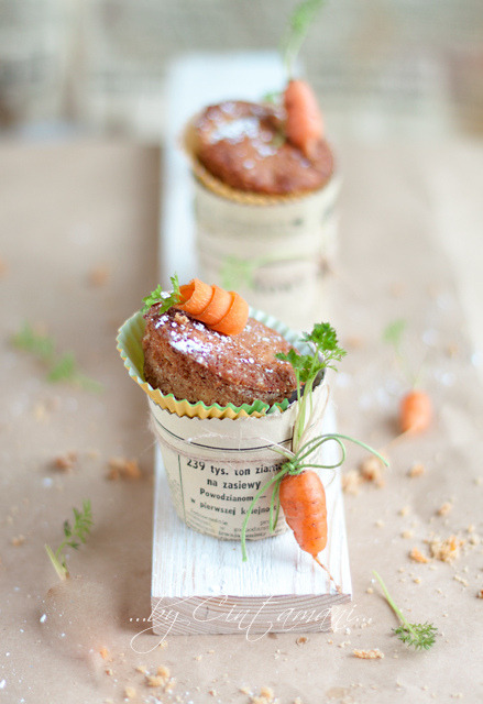 Carrot Cupcakes. by Cintamani, GreenMorning.pl on Flickr.