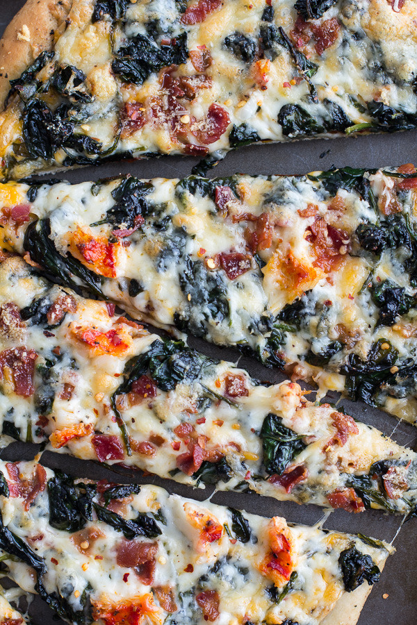 Lobster & Spinach Pizza with Bacon & Fontina