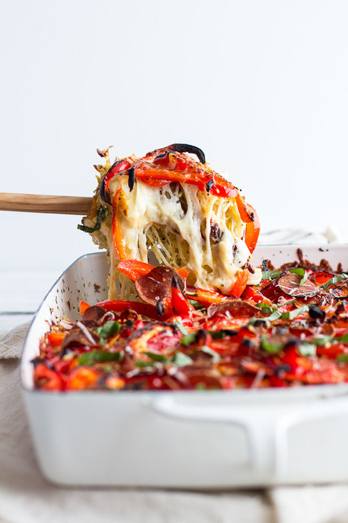 Red Pepper Cheesy Pasta Bake