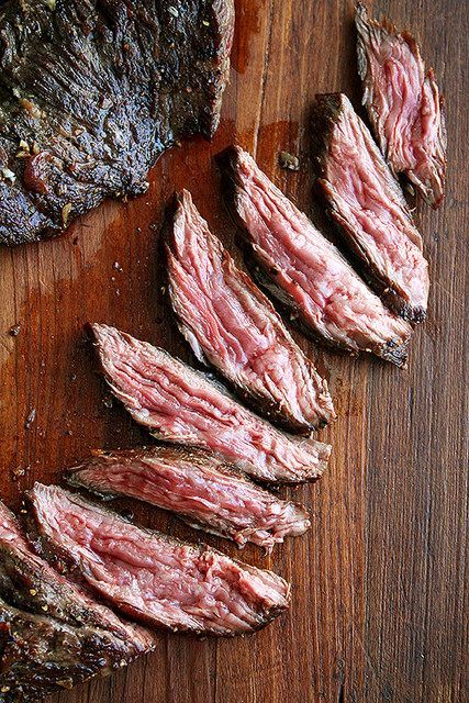 Skirt Steak with Shallots (Source