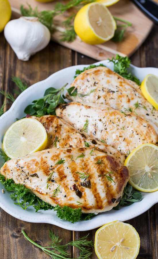 Grilled Greek Chickenwith recipe (link)