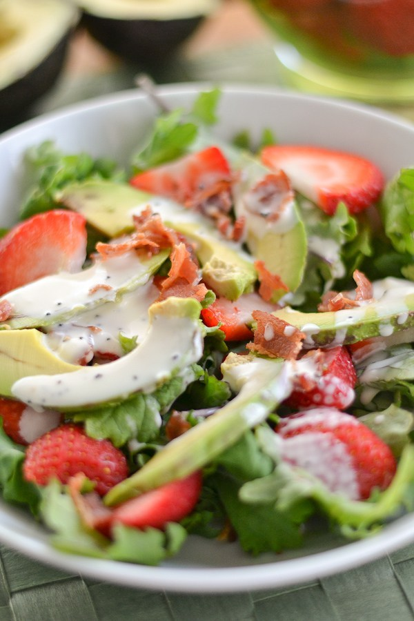 (via Strawberry Avocado Kale Salad Salu Salo Recipes)